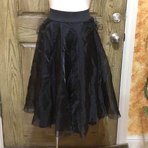 Chiffon flAre skirt